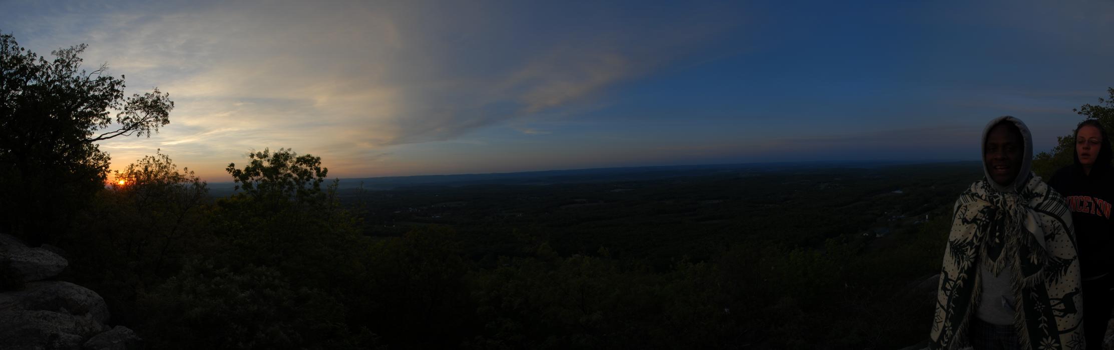 Pam, Patrick, panoramic, sunrise, trees, valley
