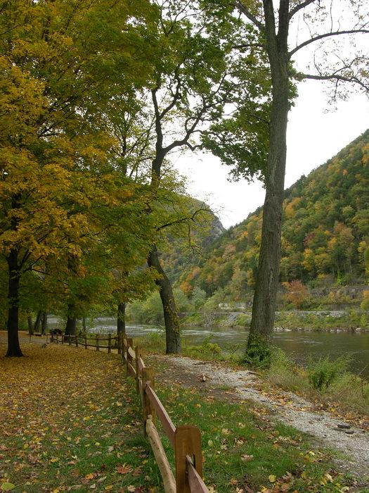 Delaware Water Gap Recreation Area, 051023-n8700, Trails, Paths, Boardwalks, Fall, Colors