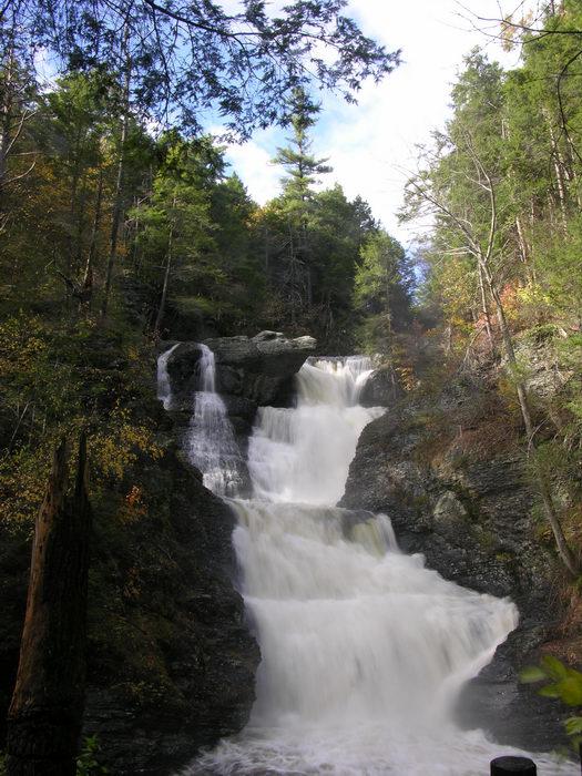 Waterfalls, Moving, Water, 051023-n8700, Raymondskill, Falls