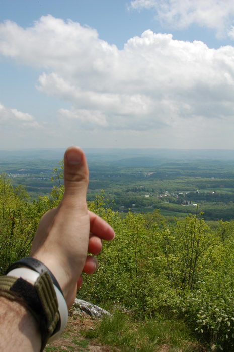 060513, Thumbs, across, America, Sunrise, Mountain, scenic, overlook, (, NJ), Camping, with, Christine,
