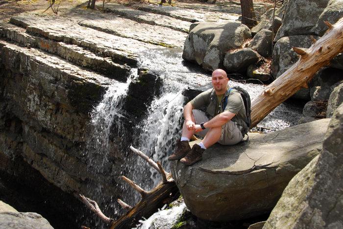 Jerf, Me, Waterfalls, Moving, Water, Rocks, Rock, formations, Camping, in, Jim, Thorpe, PA, Ringing, Park, LOC00133