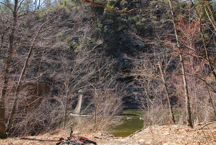 070422, Camping, in, Jim, Thorpe, PA, Glen, Onoko, Falls, Access, (LOC00130)