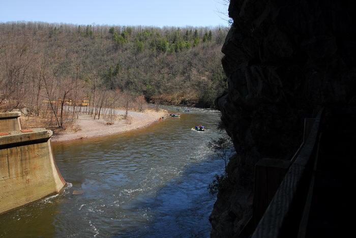 Kayaking, Paddling, Boating, Water, Rivers, Streams, Camping, in, Jim, Thorpe, PA, Glen, Onoko, Falls, Access, (LOC00130)