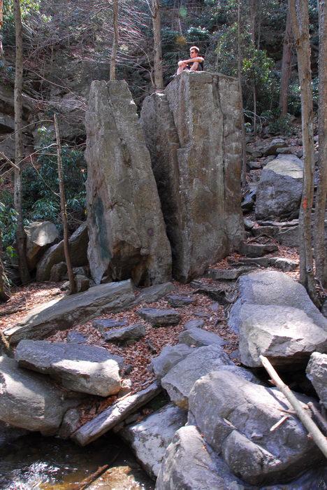 Water, Rivers, Streams, Rocks, Rock, formations, Camping, in, Jim, Thorpe, PA, Glen, Onoko, Falls, Access, (LOC00130)