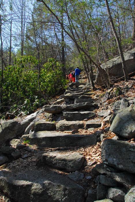 Trails, Paths, Boardwalks, Rocks, Rock, formations, Camping, in, Jim, Thorpe, PA, Glen, Onoko, Falls, Access, (LOC00130)