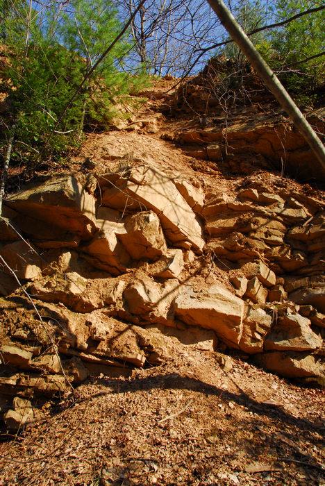 Rocks, Rock, formations, Camping, in, Jim, Thorpe, PA, Glen, Onoko, Falls, Access, (LOC00130)