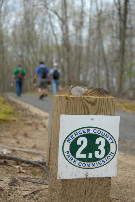 Mercer County Park (NJ), Trails, Paths, Boardwalks, Trail, Signs, and, Markers, Friends, Outdoors, SMARTs, April, Day