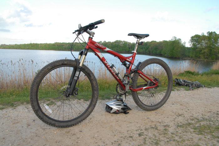 Mercer County Park (NJ), Trails, Paths, Boardwalks, Water, Ponds, Lakes, General, 070510, Some, shots, from, Specialized, FSR, XC, Comp
