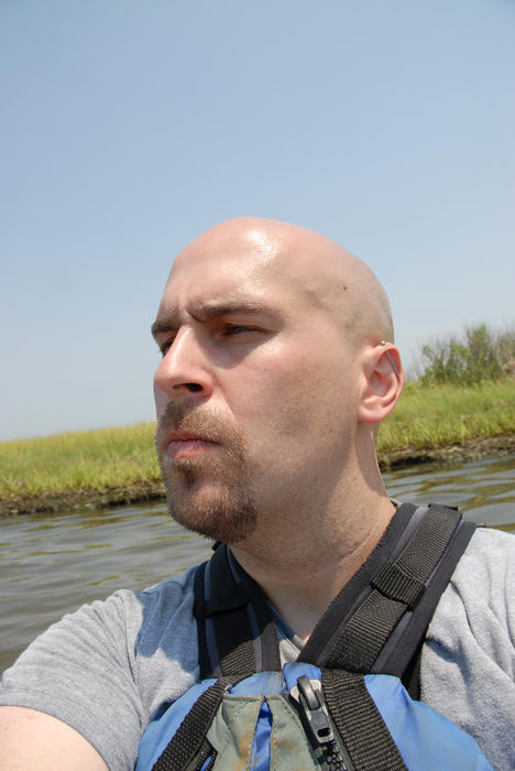 Jeff, Conklin, Kayaking, Paddling, Boating, Sedge Islands (NJ), with, Rob, in, the