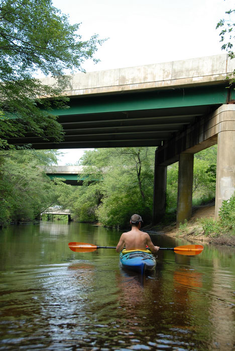 Water, Ponds, Lakes, General, Kayaking, Paddling, Boating, Rivers, Streams, Bridges, Roads, Rob, Shedel, Friends, Outdoors, with, in, Forge Pond (NJ), Metedeconk, River, LOC00070