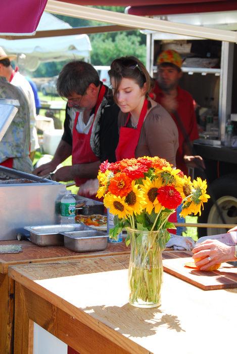 festival, flower, pizza cooker
