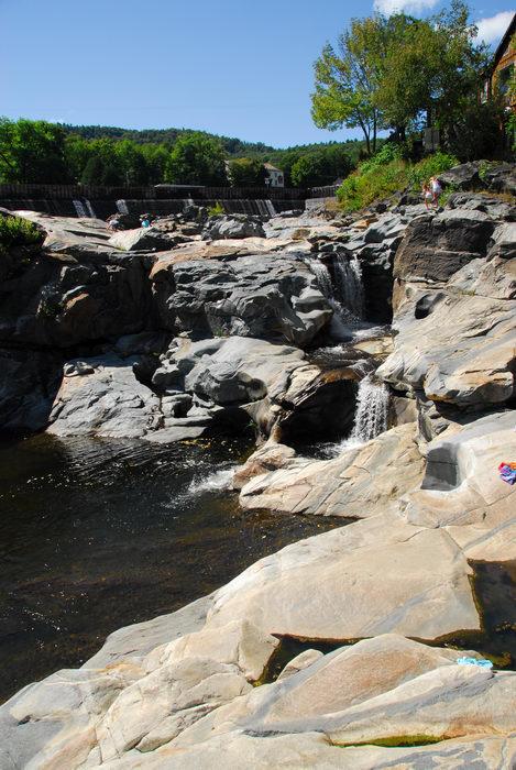 interesting, potholes, rocks, water