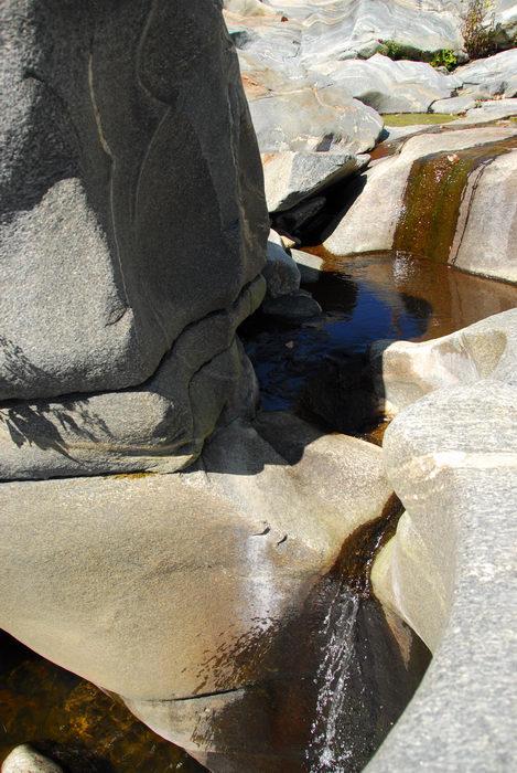 rocks, water