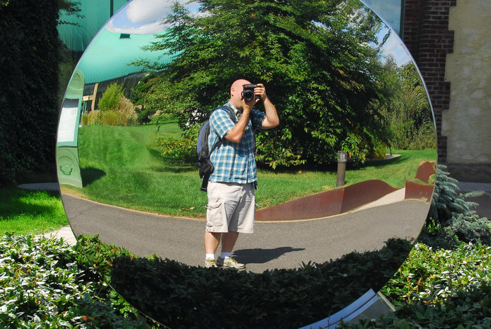 Jeff Conklin, Sculptures, mirror, reflection
