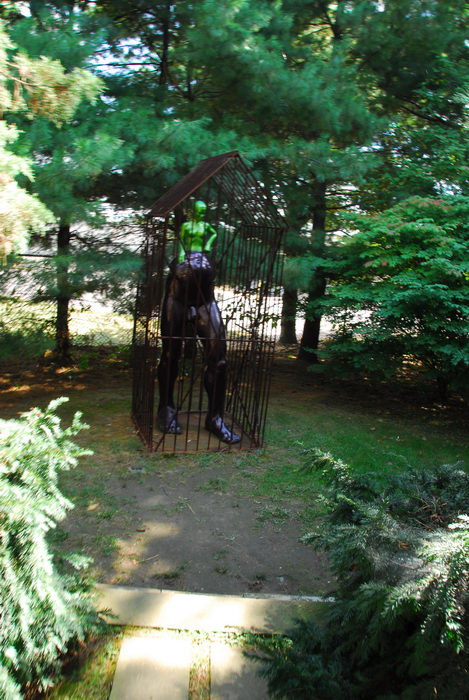 Sculptures, Statues, cage, trees