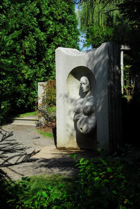 Sculptures, Statues, trees, walkway