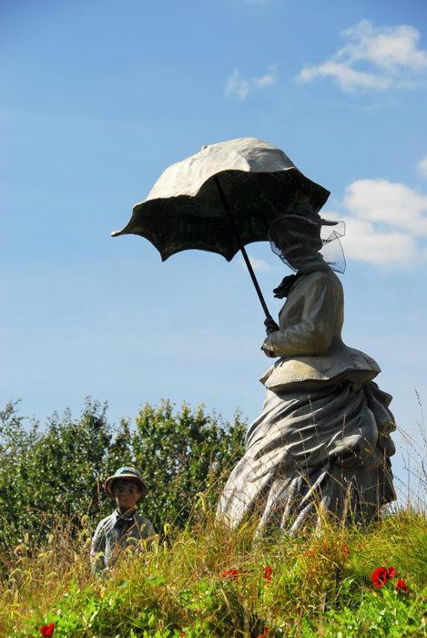 Sculptures, Statues, blue sky