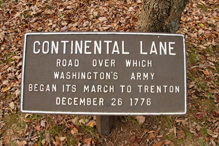 continental lane, sign