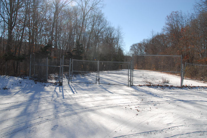 fence, snow, trees