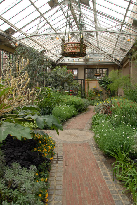 conservatory, gardens, greenhouse, path, trees, walkway