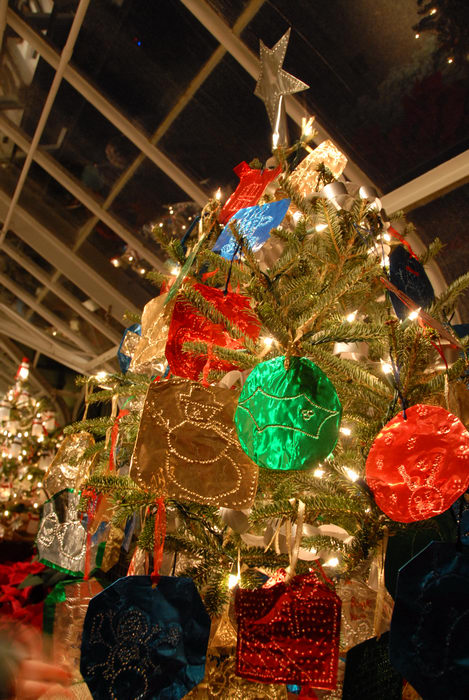 holiday lights, lights, nighttime, ornament