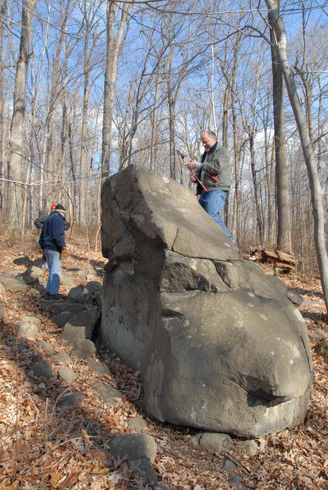 people, rock frog, rocks, woods