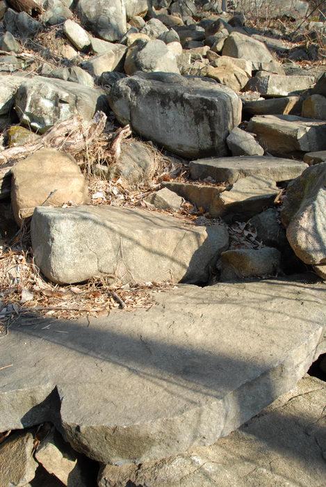 rock staircase, rocks