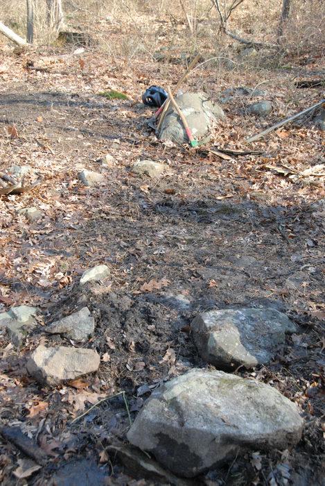 rocks, trail