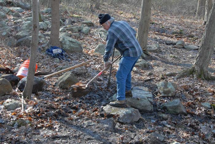 NJ Trail Association, Trail Maintenance, people, rocks