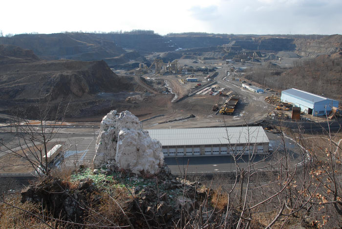 Panoramic, Stavola Quarry, chmney rock, machinery, quarry, scenic overlook
