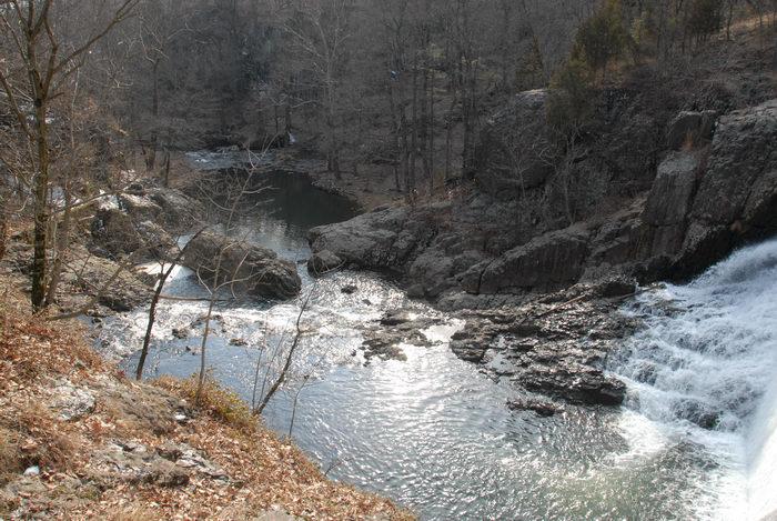 river, rocks, water, waterfall, woods