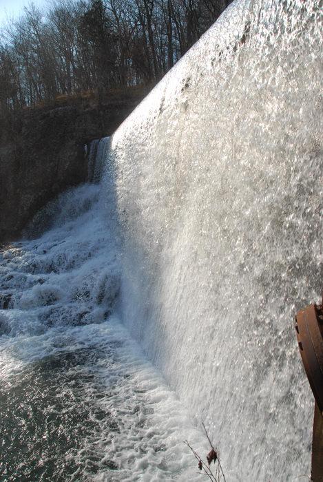 dam, water, waterfall
