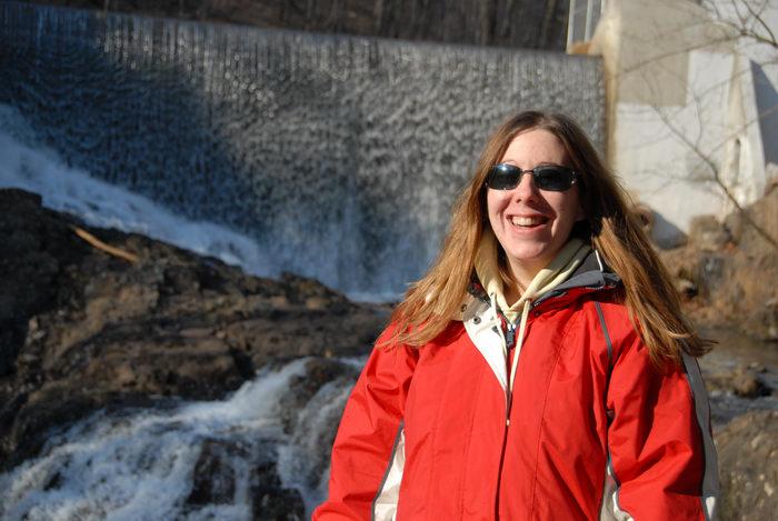 Jackie, dam, rocks, water, waterfall