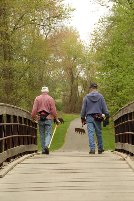 SMART, Trail Maintenance, bridge, grass, path, trail, trees, woods