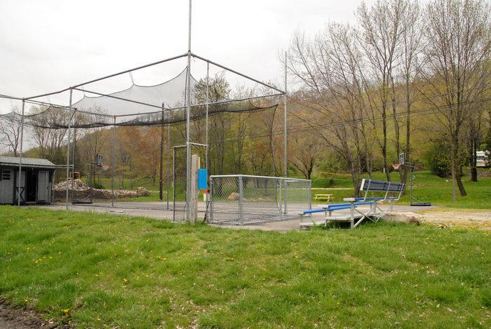 batting cage, grass