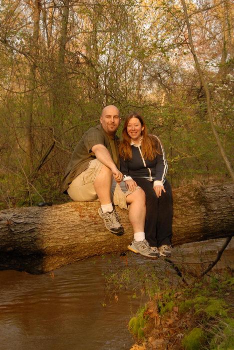 Jacki, Jeff, Shark River, river, trees, water, woods