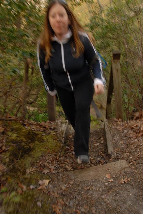 Jacki, blurry, woods