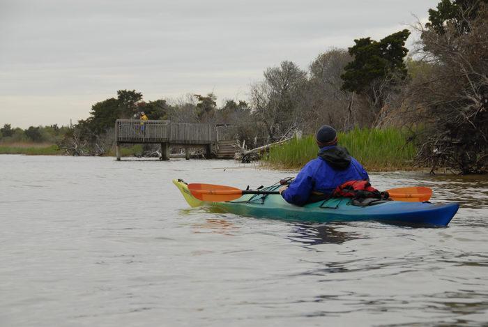 Rob, deck, kayak, paddle, water