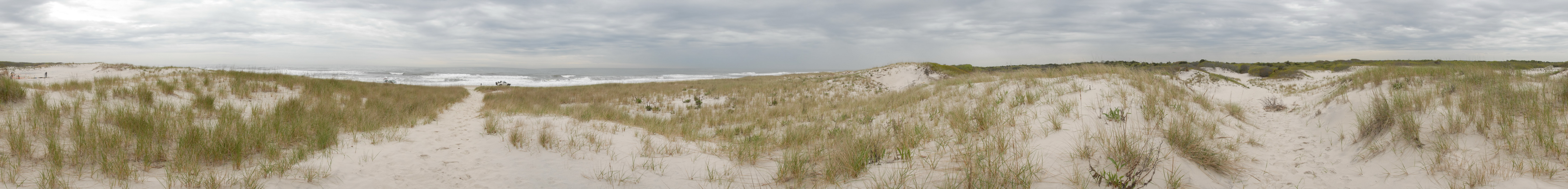 beach, dunes, ocean, panoramic, sand, water, waves