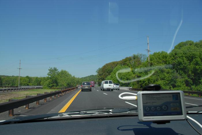 Garden State Parkway, Garmin Nuvi 750, dashboard, driving, road
