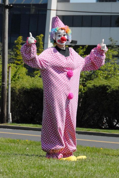 clown, grass