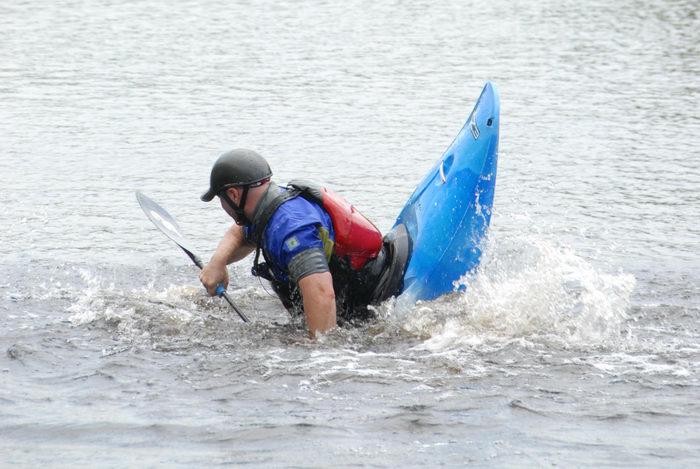 kayak, kayaker, play boat, trees, water, woods