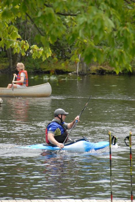 canoe, kayak, people, play boat, trees, woods