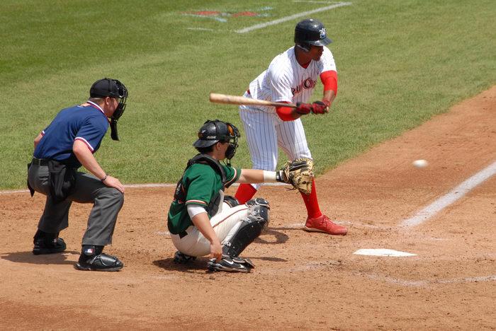 baseball, baseball diamond, batter, catcher, grass, movement, umpire