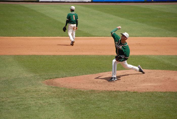 baseball player, grass, pitcher
