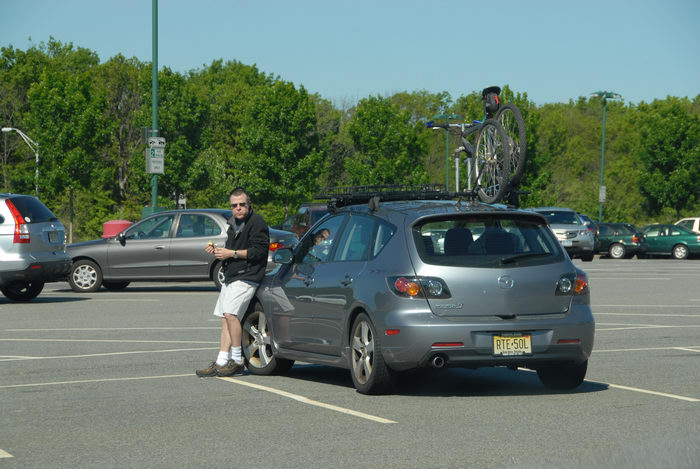 Mazda, Rob, bike, parking lot