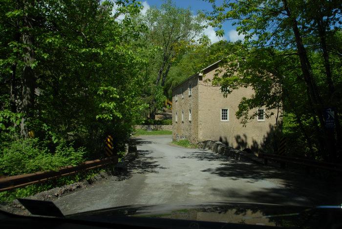 building, road, tree