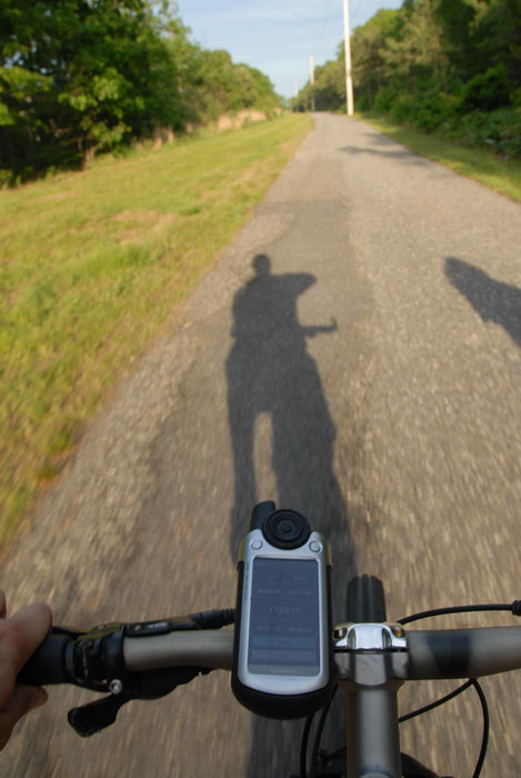 Garmin Colorado 400t, bike path, grass, mountain bike, shadow, trees