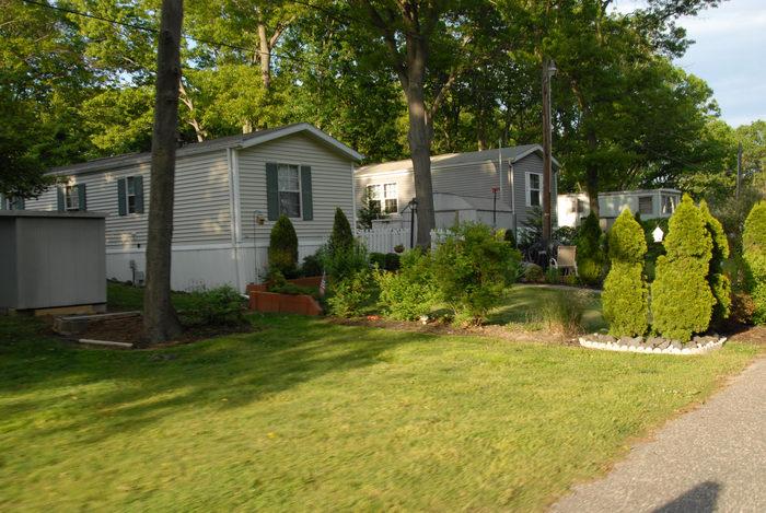bike path, bushes, grass, shrubs, trailers, trees