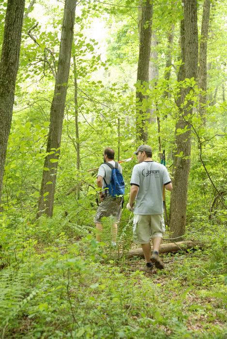 JORBA Tee Shirt, S.M.A.R.T., SMART, ground cover, path, tools, trail, trail maintenance, trees, woods